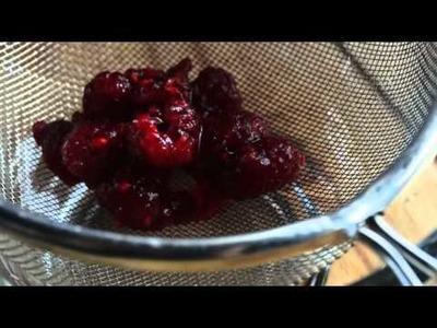 Receta Chef Oropeza Pay helado de frambuesa