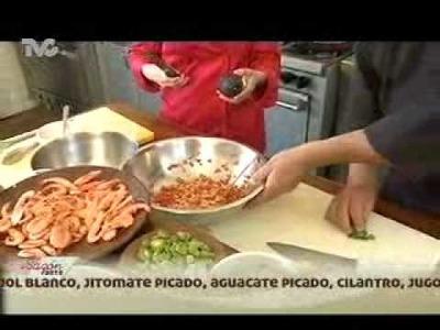 Receta para preparar Pescado con Camarones