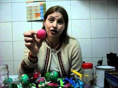 Tecnica en decoracion de huevos de pascua