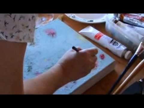 Tutorial técnicas mixtas en Pintura, 1ª parte