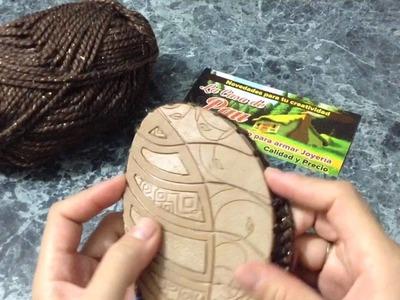 Bota tejida a crochet  modelo Katia parte 1