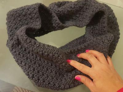Bufanda tubo o circular en crochet ( ganchillo )