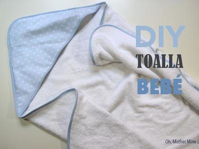 DIY Canastilla bebe: Tutorial de toalla con capucha