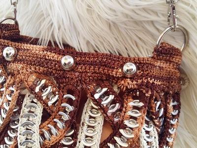 #DY#TUTORIAL Enganche de Bolsos o Agarraderas  De Anillas O Crochet