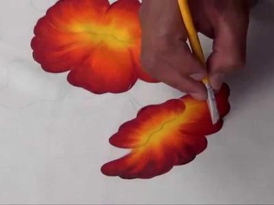 Flor de Cucarda Pintada en Tela (1.2)