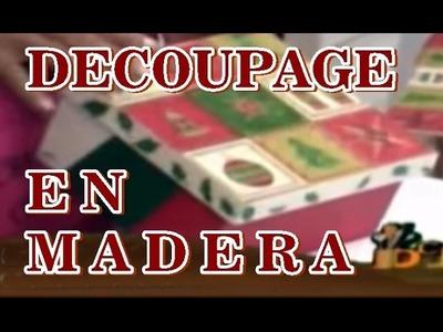 MANUALIDADES NAVIDEÑAS DECOUPAGE EN MADERA