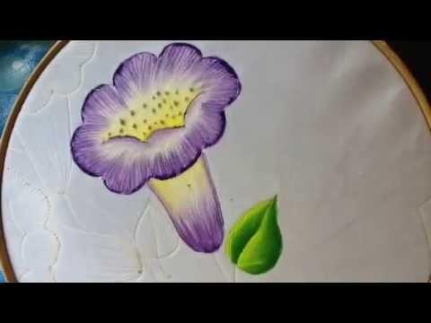 Pintura en tela carpeta pirograbada # 2 con cony