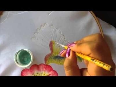 Pintura en tela carpeta pirograbada # 5 con cony