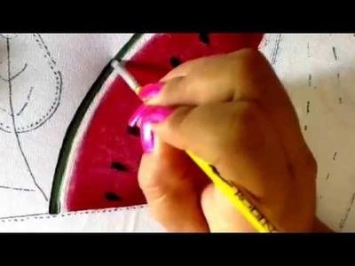 Pintura en tela sandia con cony