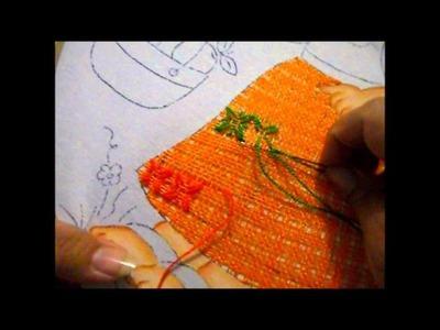 Puntada fantasia niña naranja