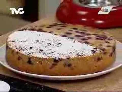 Receta para preparar Pastel de Moras Azules