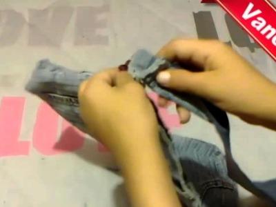 Reutilza Tus jeans---Bolsa de mezclilla