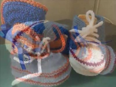 Zapatitos crochet bebe varon