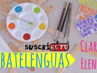 Abatelenguas. Manualidades para niños
