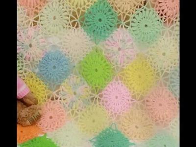 Cobijita Multicolor con sobrantes de estambre a crochet