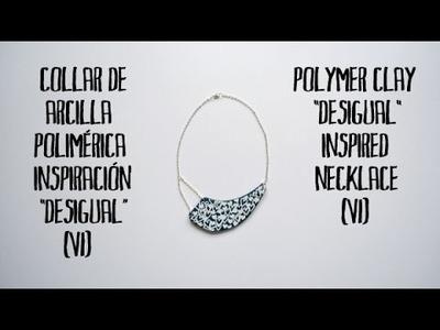 Collar de arcilla polimérica inspiración Desigual (6) - Polymer clay Desigual inspired necklace (6)