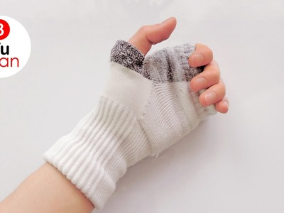 Como hacer guantes con medias - Manualidades | DIY