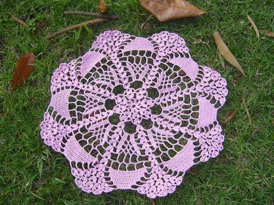 Como hacer tapete o centro de mesa a crochet tutorial