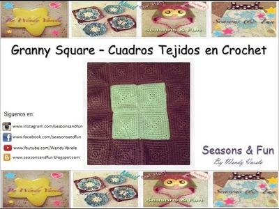 Como hacer un Granny Square o Cuadros Tejidos en Crochet