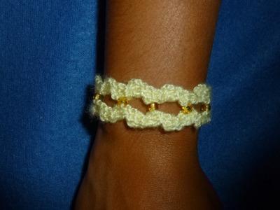 Como hacer una pulsera de ganchillo o crochet  DIY