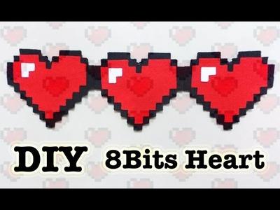 CORAZON. HEART 8 BITS | REGALO | DIA DEL NIÑO | DIY | MANUALIDADES GAMER - YuureYCrafts
