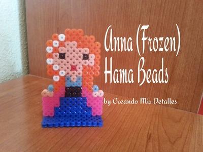 DIY Anna Frozen Hama Beads (Perler beads)