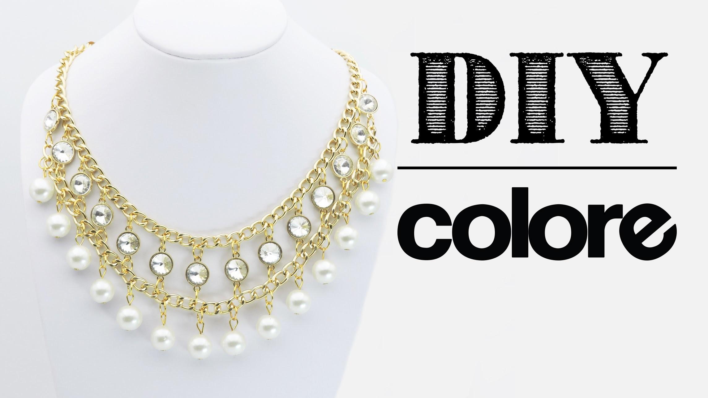 DIY Collar Cadena, Perla y Octagonal | Colore Accesorios