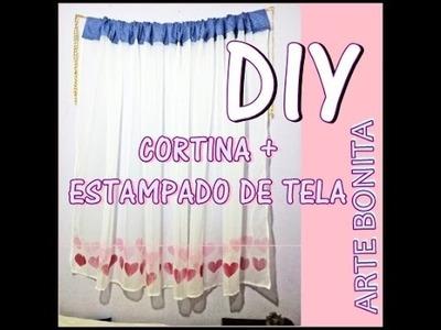 DIY CORTINA Y ESTAMPADO DE TELA