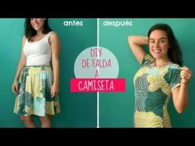 DIY: de falda a camiseta