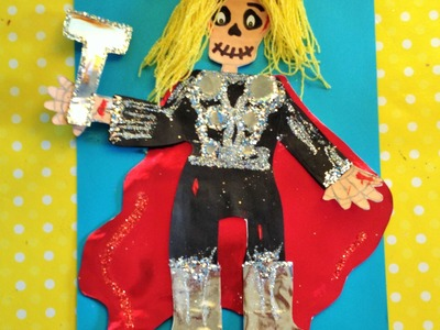 DIY Decora esqueleto papel Thor niño halloween ideas Dia de Muertos  decorated paper skeleton