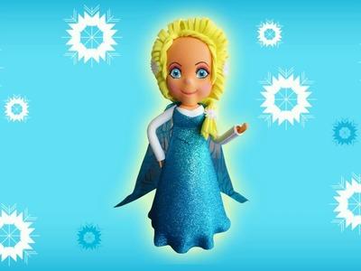 Fofucha Elsa Frozen | Curso de Foamy | Manualidades queternura.com