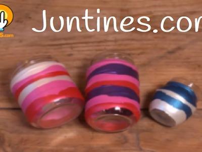 Manualidades con globos: Tarros decorados
