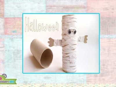 Manualidades de Halloween con Tubos de papel higienico - Halloween crafts with toilet paper tubes