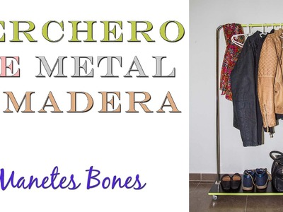 Perchero para la entrada de metal y madera | Tutorial DIY