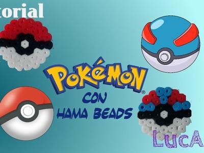 Pokémon Tutorial: Pokéball y Superball con Hama.Perler Beads