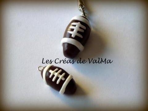 Tuto Fimo Ballon de Rugby ou Ballon de Football Américain. Polymer Clay Tutorial