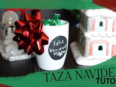 Tutorial de Taza Pizarron Regalo Navideño DIY | Tori Creative