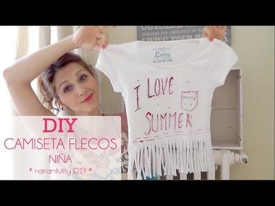 TUTORIAL DIY Camiseta de Flecos para niña muy fácil