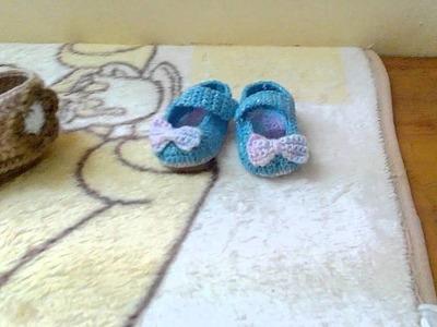 Zapatitos para bebes a crochet
