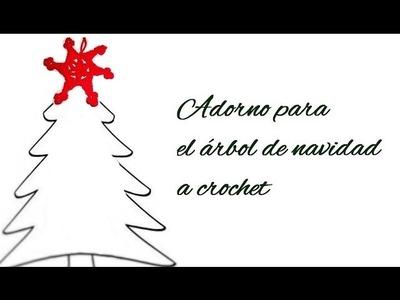 *Adorno para el árbol de navidad a crochet*