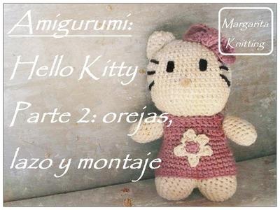 Amigurumi Hello Kitty a crochet parte 2: orejas, lazo y montaje (diestro)