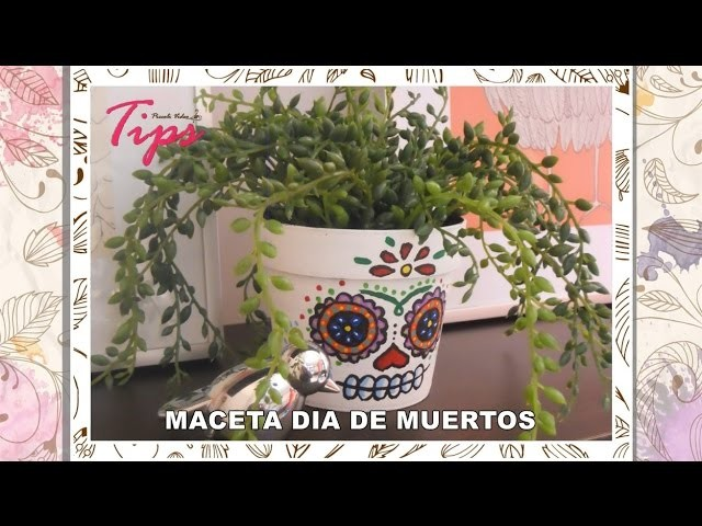 Catrina - DIY - Maceta decorativa - Dia de Muertos