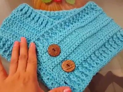 Cuello bufanda en crochet paso a paso