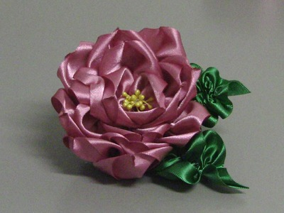 D.I.Y. Novo modelo de Rosa de fitas TUTORIAL