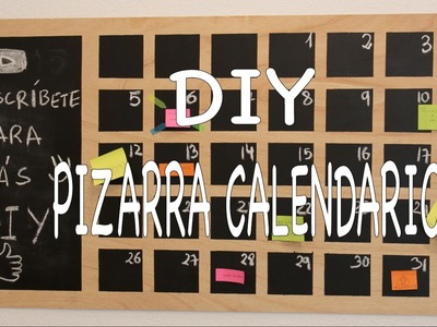 DIY tutorial pizarra calendario perpetuo | DECOMUB
