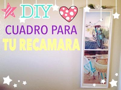 DIY WALL DECOR.DIY CUADRO FACIL Y BONITO