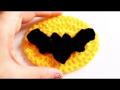 Murcielago a Crochet (Logo Batman) | How to crochet a BAT applique