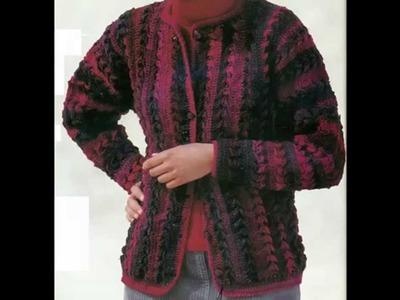 Suéter En Rojo Jaspeado a Crochet