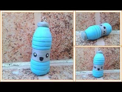 Botella de agua. Arcilla Polimerica, Bottle Of Water. Polymer Clay