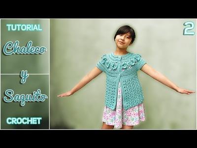 Chaleco y saquito a crochet para niña, paso a paso (2 de 3)